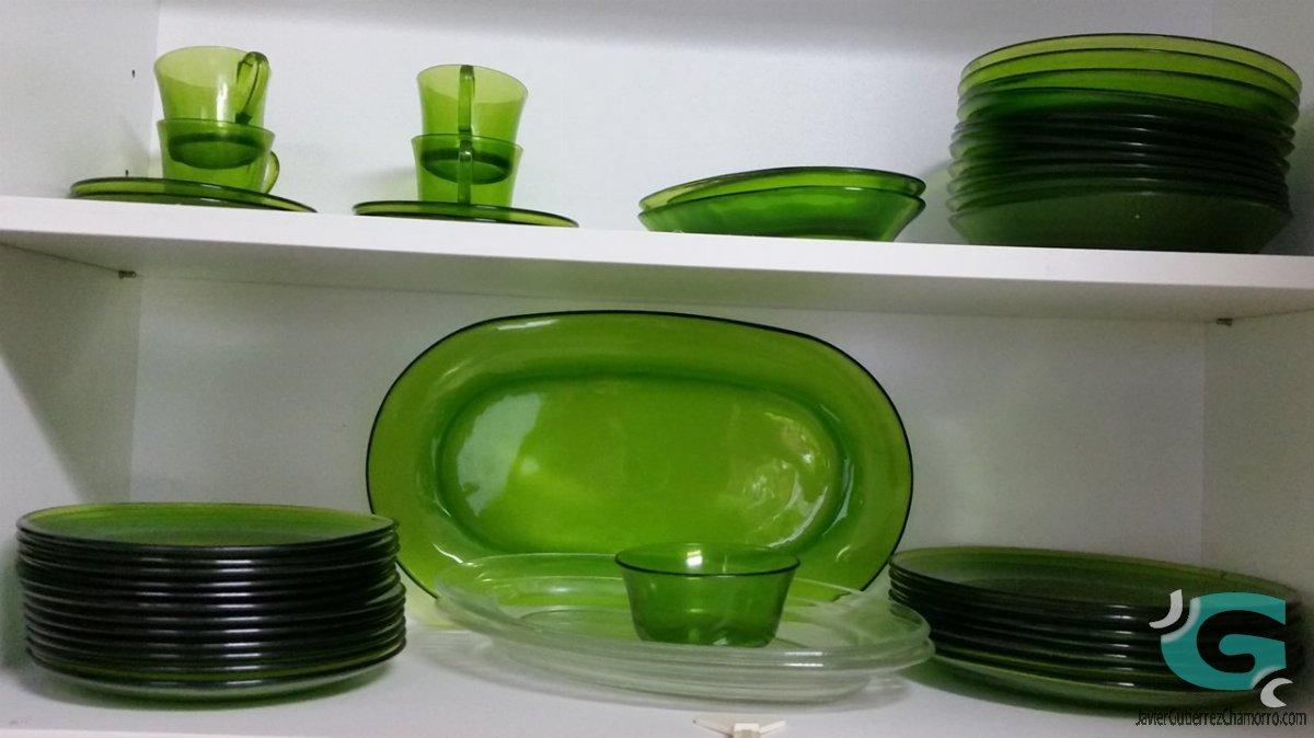 Vajilla duralex lys verde bit cora de javier guti rrez - Vajillas de cristal ...