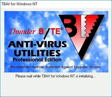 ThunderBYTE Antivirus para Windows NT